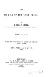 The Words of the Lord Jesus: Volume 5