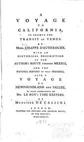 A Voyage to California: To Observe the Transit of Venus