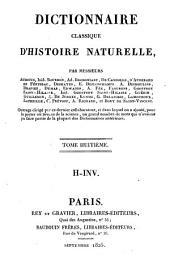 Dictionnaire classique d'histoire naturelle: H - Inv, Volume8