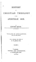 History of Christian Theology in the Apostolic Age PDF