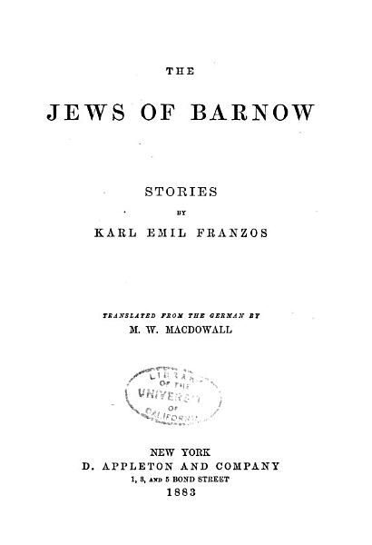 Download The Jews of Barnow Book