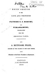 Brief Sketch of the Life and Writings of Father C.J. Beschi
