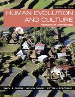 Human Evolution and Culture PDF
