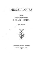 Miscellanies from the Collected Writings of Edward Irving PDF