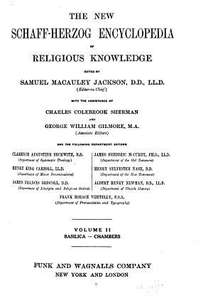 The New Schaff Herzog Encyclopedia of Religious Knowledge PDF