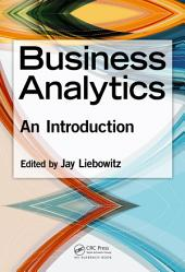 Business Analytics: An Introduction
