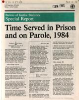 Time Served in Prison and on Parole  1984 PDF