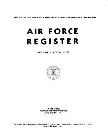 Air Force Register PDF