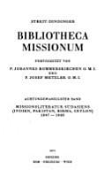 Bibliotheca missionum PDF