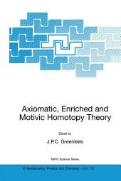 Axiomatic, Enriched and Motivic Homotopy Theory: Proceedings of the NATO Advanced Study Institute on Axiomatic, Enriched and Motivic Homotopy Theory Cambridge, United Kingdom 9–20 September 2002