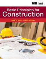 Residential Construction Academy  Basic Principles for Construction PDF