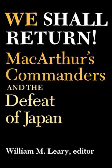 We Shall Return  PDF