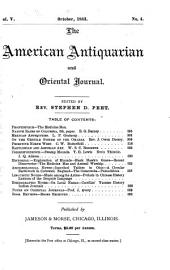 The American Antiquarian and Oriental Journal: Volume 5