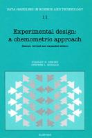 Experimental Design  A Chemometric Approach PDF