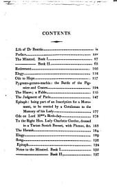 The minstrel; or, The progress of genius: in two parts. With some other poems