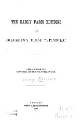 "The Early Paris Editions of Columbus's First ""Epistola"" ..."