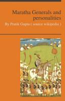 Maratha Generals and Personalities PDF