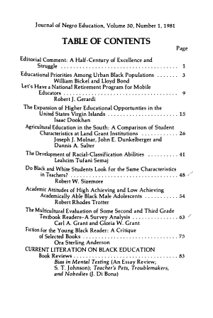 The Journal of Negro Education PDF