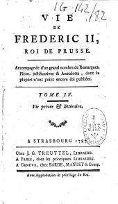 Vie de Frédéric II, roi de Prusse