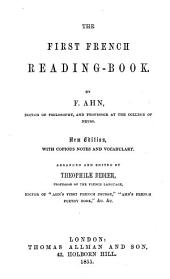 The first French reading-book, by F. Ahn
