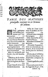 La Saincte philosophie de l'âme: sermons pour l'Advent, preschez à Paris... l'an 1612
