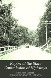 Report of the State Commission of Highways: Volume 1