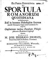 Ex poesi exegetica, de sportula Romanorum quotidiana