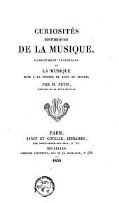 Curiosités historiques de la musique