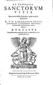 De Probatis Sanctorvm Vitis: Avugvstvs, Volume 8