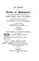 An Essay on the Genius of Shakespeare PDF
