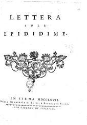 Lettera sull'epididime [Felice Fontana]