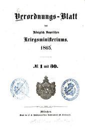 Verordnungs-Blatt: 1865