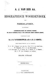 Biographisch woordenboek der Nederlanden: bevattende levensbeschrijvingen van zoodanige personen, die zich op eenigerleiwijze in ons Vaderland hebben vermaard gemaakt, Volume 13