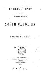 Geological report of the midland counties of North Carolina