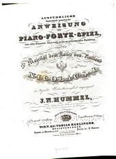 Ausführliche theoretisch-practische Anweisung zum Piano-Forte-Spiel: Vom ersten Elementar-Unterrichte an bis zur vollkommensten Ausbildung, Band 3