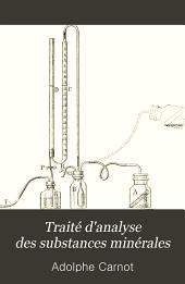 Traité d'analyse des substances minérales: Volume2