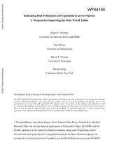 Estimating Real Production and Expenditures Across Nations: A Proposal for Improving the Penn World Tables