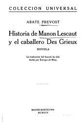 Historia de Manón Lescaut y del Caballero des Grieux