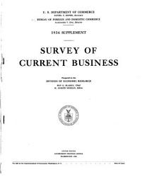 Statistical Supplement To The Survey Of Current Business Book PDF