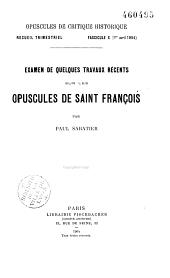 Opuscules de critique historique