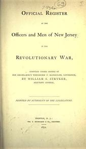 Official register of the officers and men of New Jersey in the revolutionary war (1872)