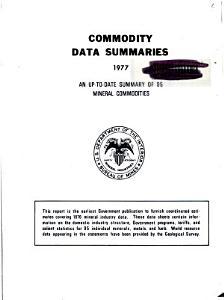 Commodity Data Summaries PDF