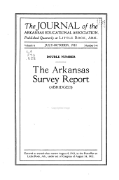 The Public School System of Arkansas: A Report of a Survey of the Public Schools of the State of Arkansas, Made at the Request of the Arkansas State Educational Commission, Under the Direction of the United States Commissioner of Education