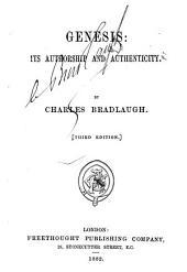 Genesis: Its Authorship and Authenticity