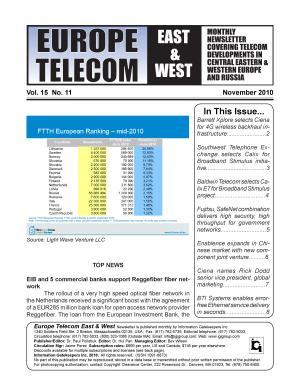 European Telecom Monthly Newsletter November 2010 PDF