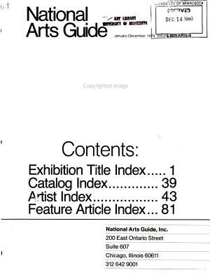 National Arts Guide PDF