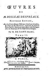 Oeuvres de M. Boileau Despréaux: Volume2
