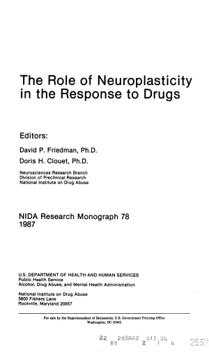 National Institute on Drug Abuse Research Monograph Series PDF