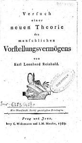 Versuch einer neuen Theorie des menschlichen vorstellungsvermogens von Karl Leonhard Reinhold