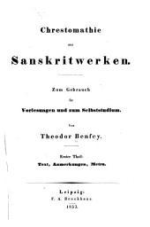Handbuch der sanskritsprache: Zum Gebrauch für vorlesungen und zum selbststudium, Band 2
